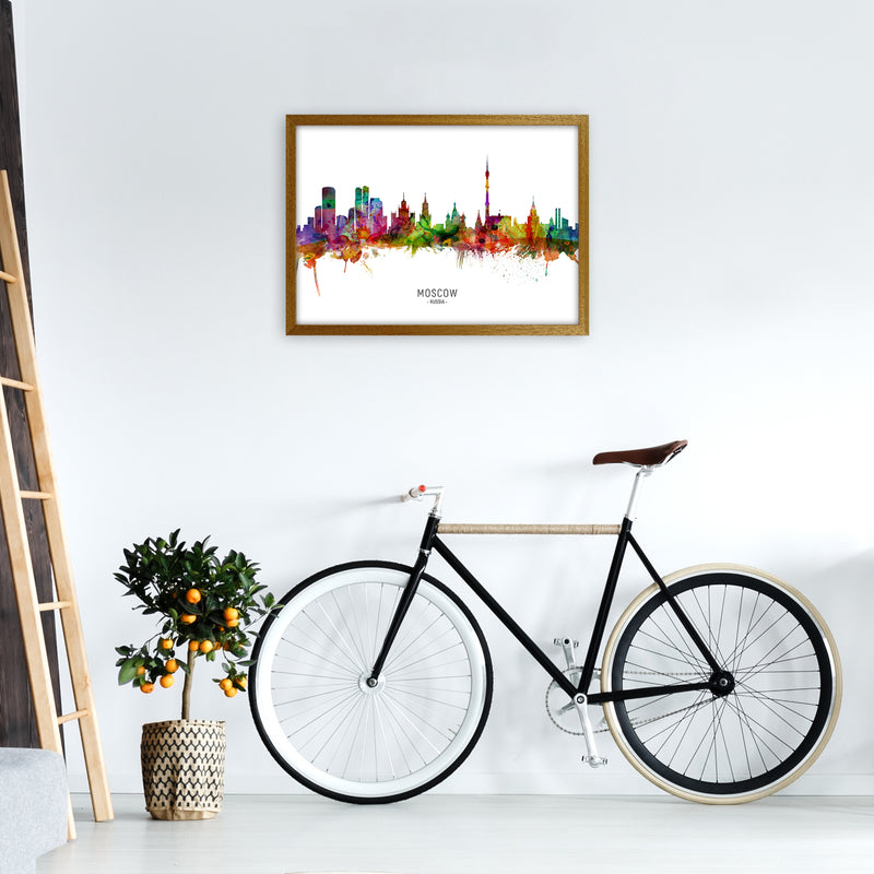 Moscow Russia Skyline Art Print by Michael Tompsett A2 Print Only