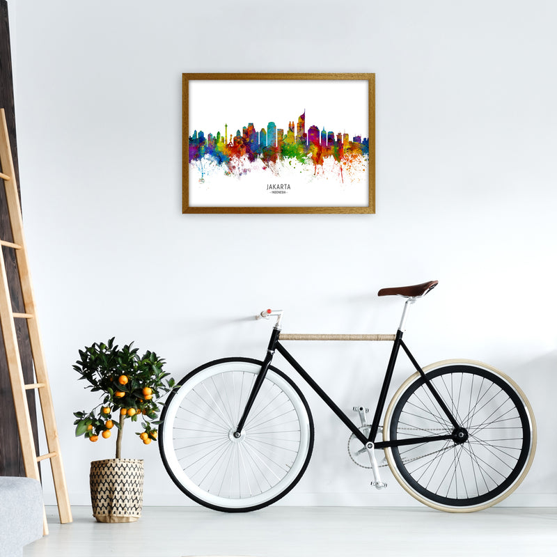 Jakarta Indonesia Skyline Art Print by Michael Tompsett A2 Print Only