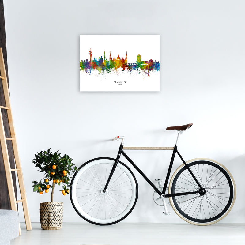 Zaragoza Spain Skyline Art Print by Michael Tompsett A2 Black Frame