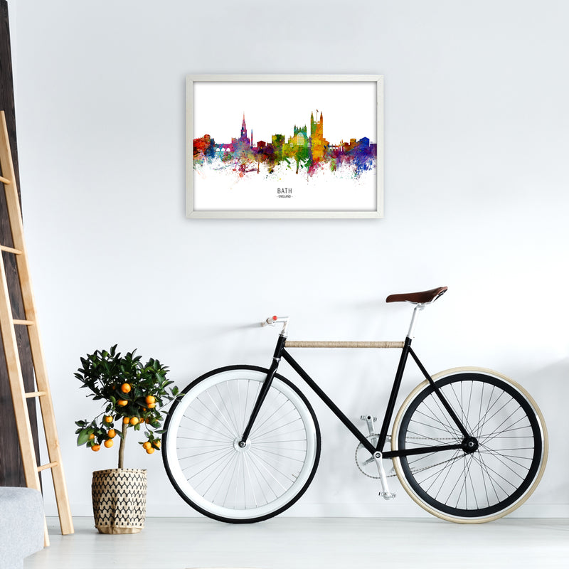 Bath England Skyline Art Print by Michael Tompsett A2 Oak Frame