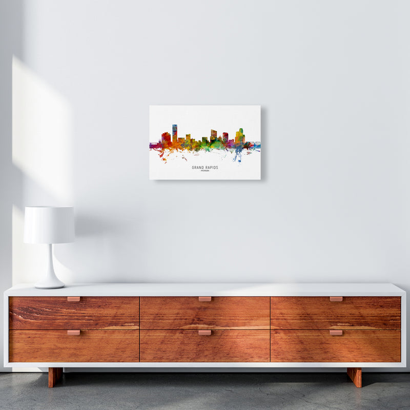 Grand Rapids Michigan Skyline Art Print by Michael Tompsett A3 Canvas