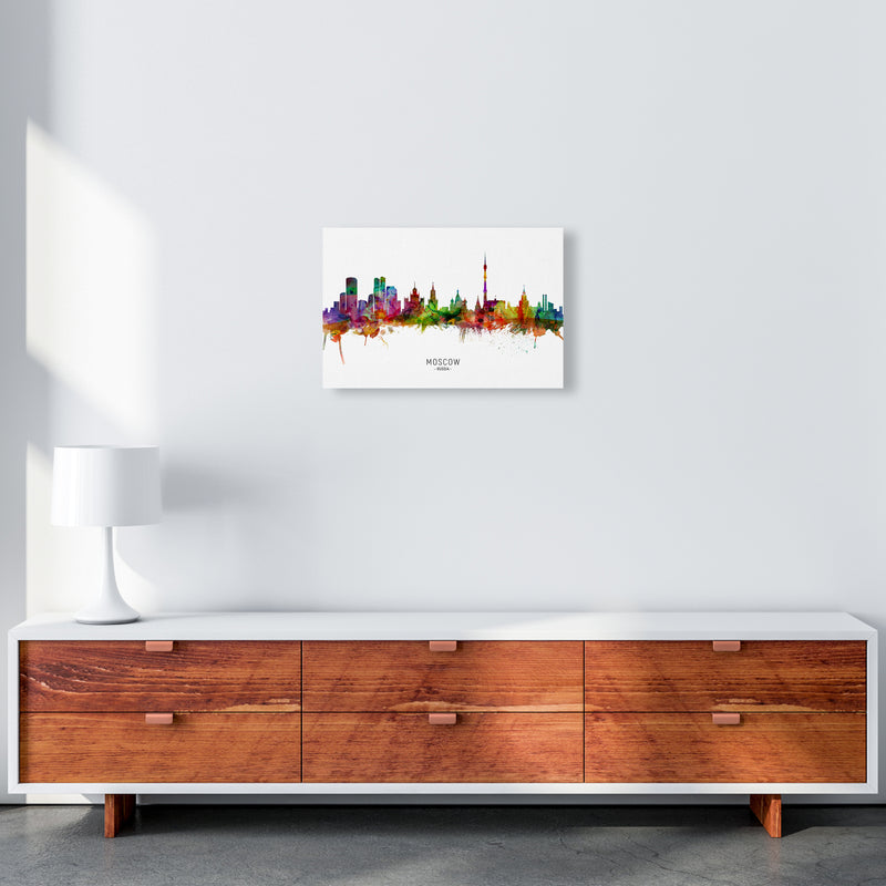 Moscow Russia Skyline Art Print by Michael Tompsett A3 Canvas