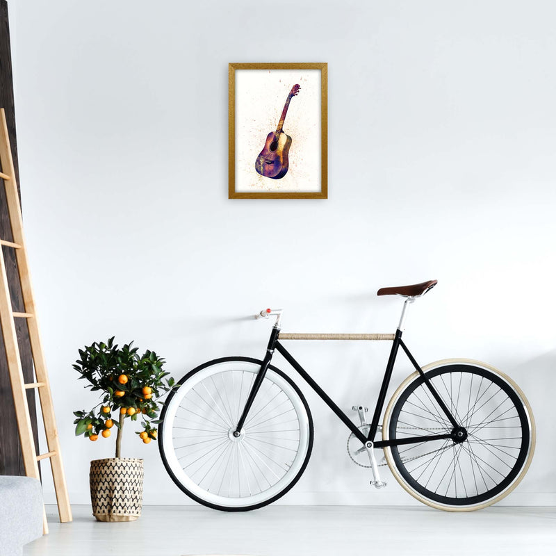 Acoustic Guitar Watercolour  by Michael Tompsett A3 Print Only