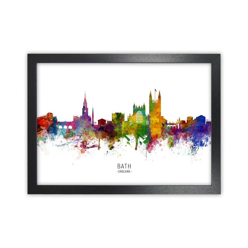 Bath England Skyline Art Print by Michael Tompsett Black Grain