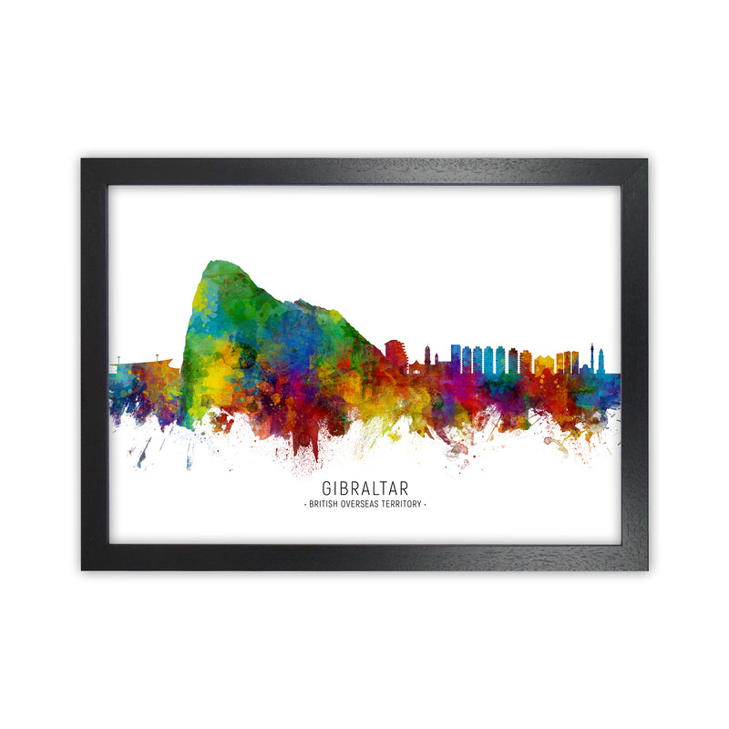 Gibraltar  Skyline Art Print by Michael Tompsett Black Grain