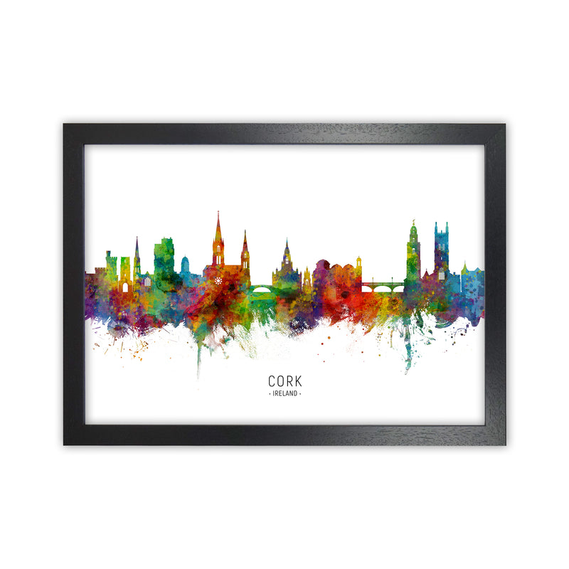 Cork Ireland Skyline Art Print by Michael Tompsett Black Grain