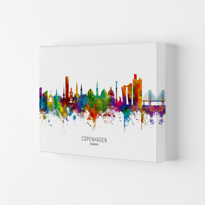 Copenhagen Denmark Skyline Art Print by Michael Tompsett Canvas