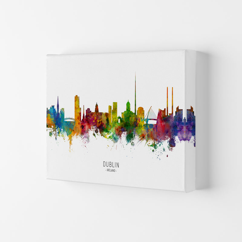 Dublin Ireland Skyline Art Print by Michael Tompsett Canvas