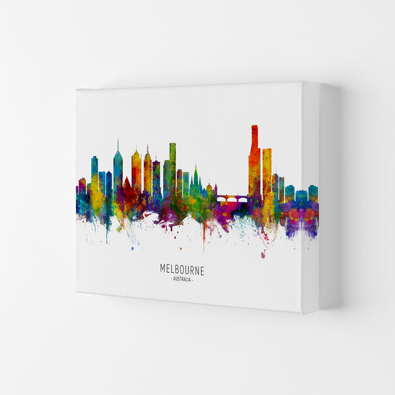 Melbourne Australia Skyline Art Print by Michael Tompsett Canvas