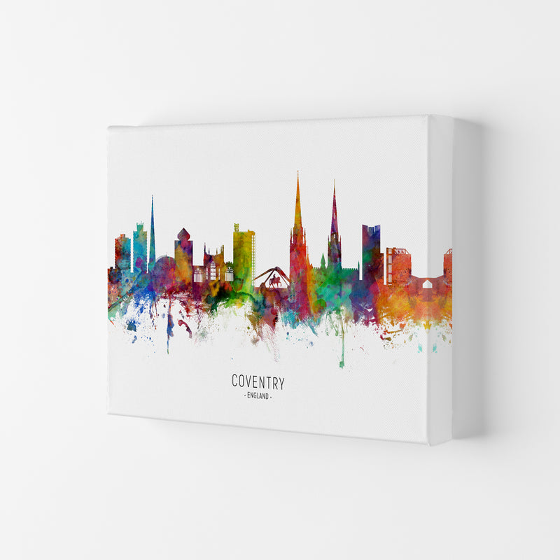 Coventry England Skyline Art Print by Michael Tompsett Canvas