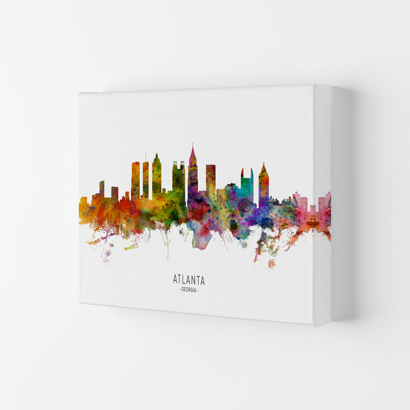 Atlanta Georgia Skyline Art Print by Michael Tompsett Canvas