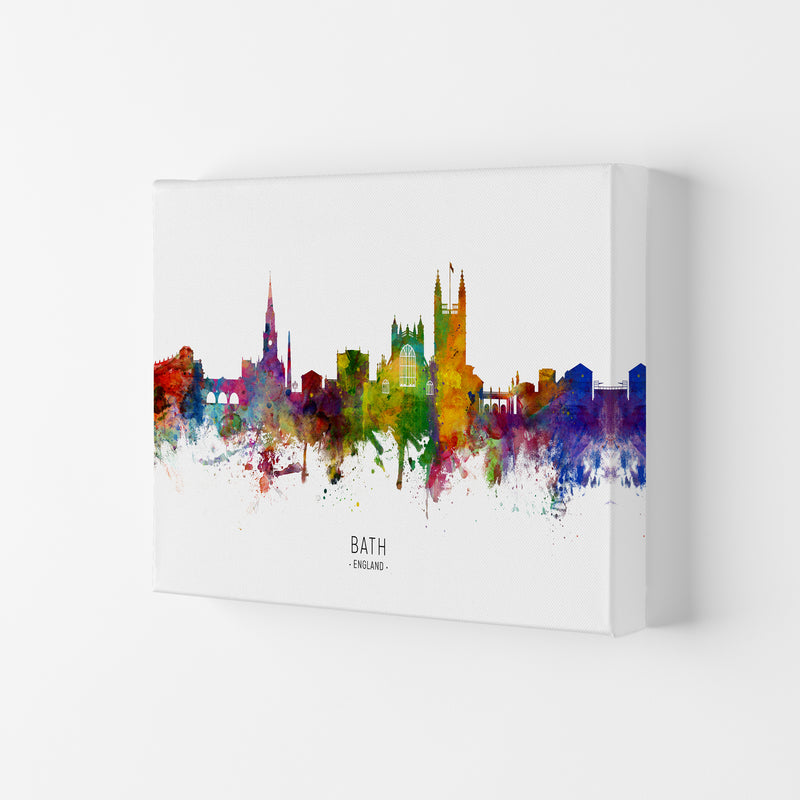 Bath England Skyline Art Print by Michael Tompsett Canvas