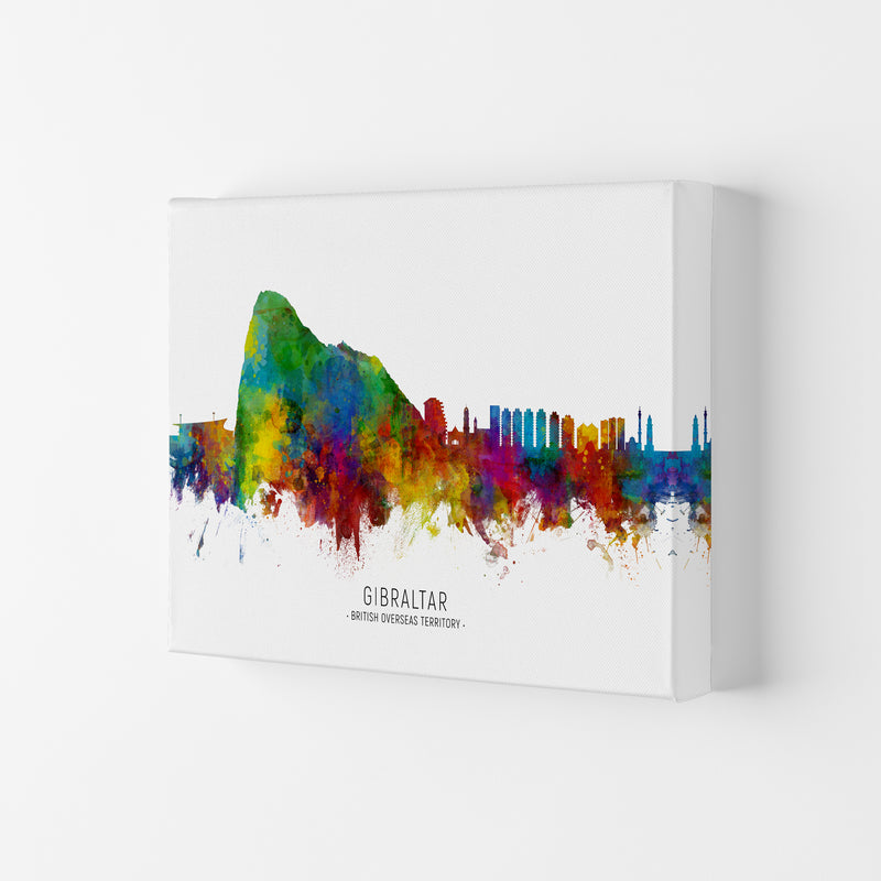 Gibraltar  Skyline Art Print by Michael Tompsett Canvas