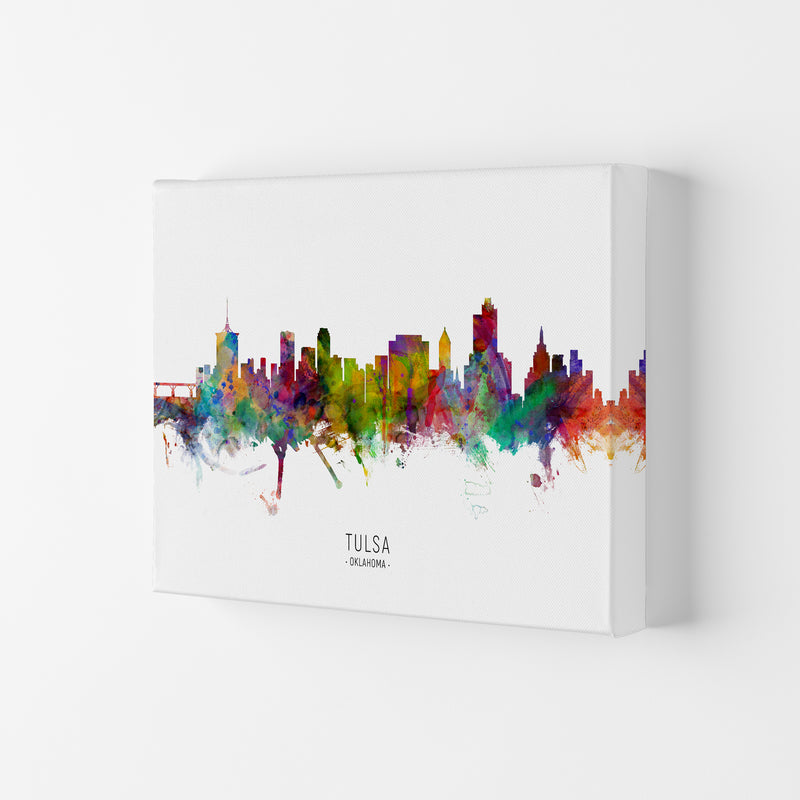 Tulsa Oklahoma Skyline Art Print by Michael Tompsett Canvas