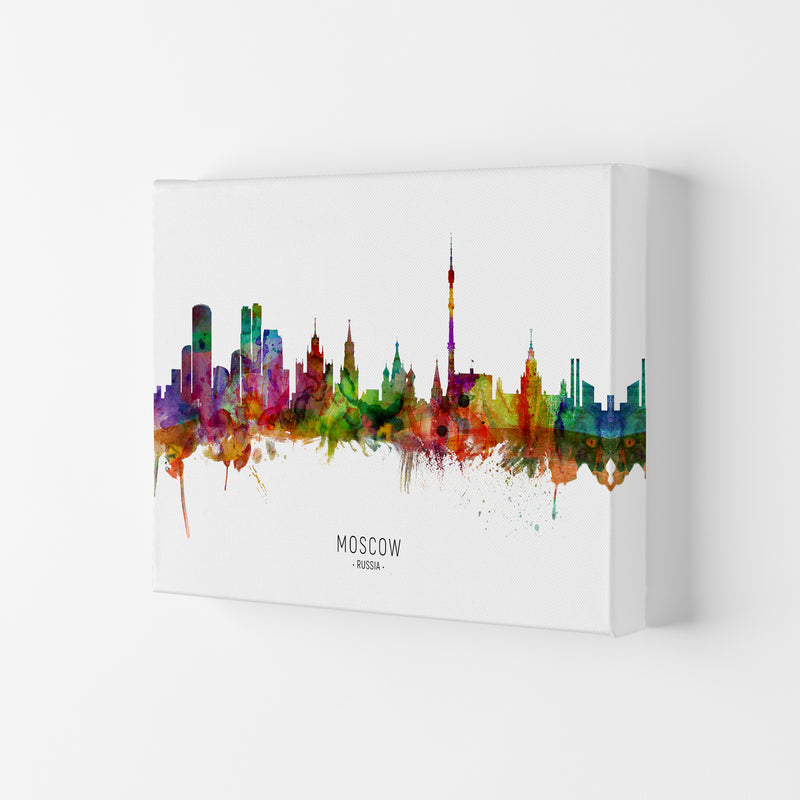 Moscow Russia Skyline Art Print by Michael Tompsett Canvas
