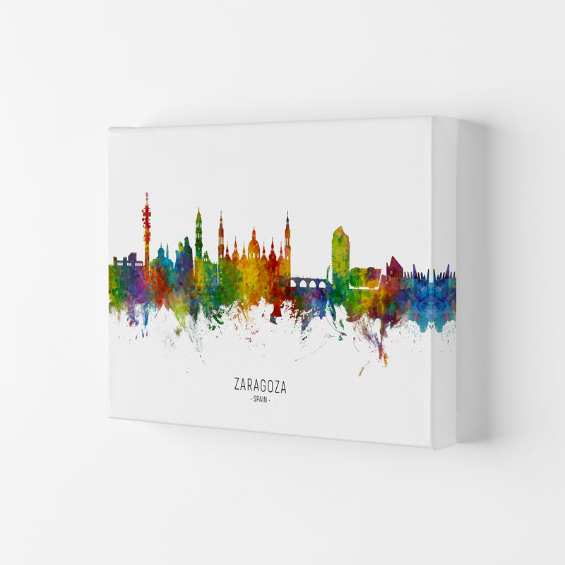 Zaragoza Spain Skyline Art Print by Michael Tompsett Canvas