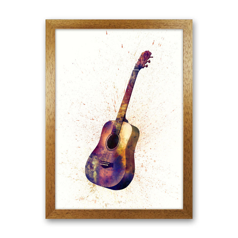 Acoustic Guitar Watercolour  by Michael Tompsett Oak Grain