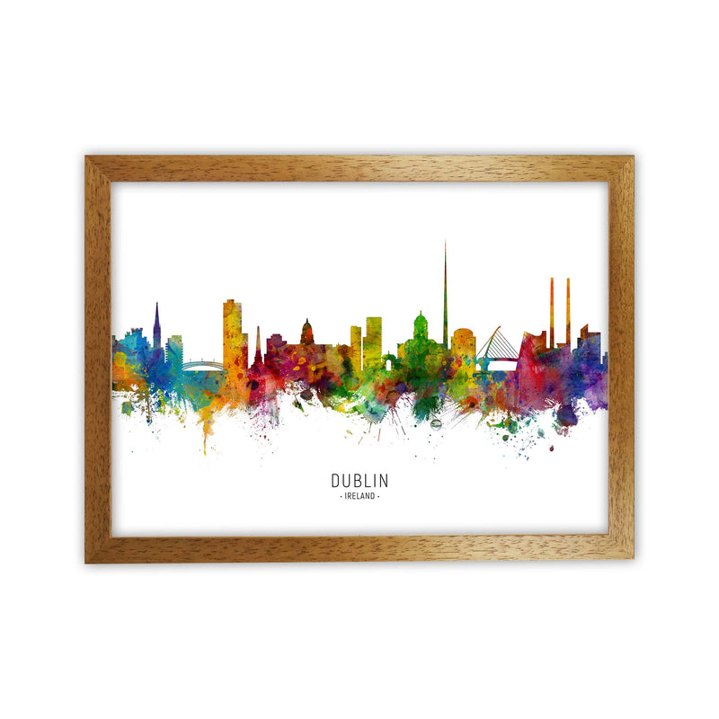 Dublin Ireland Skyline Art Print by Michael Tompsett Oak Grain