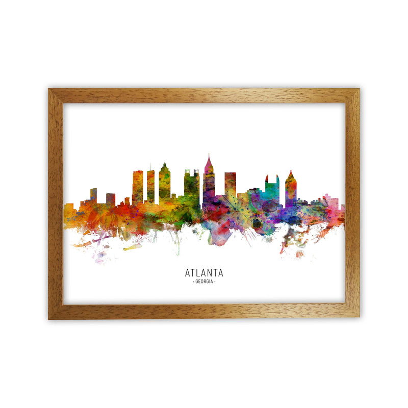 Atlanta Georgia Skyline Art Print by Michael Tompsett Oak Grain