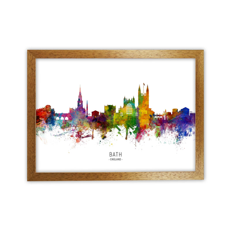 Bath England Skyline Art Print by Michael Tompsett Oak Grain