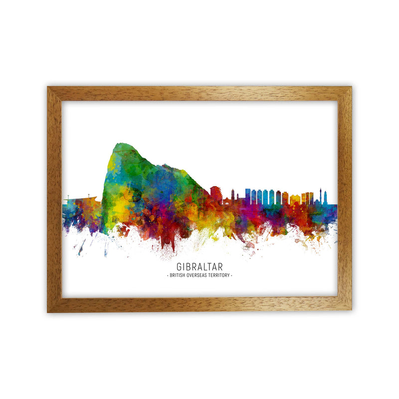 Gibraltar  Skyline Art Print by Michael Tompsett Oak Grain