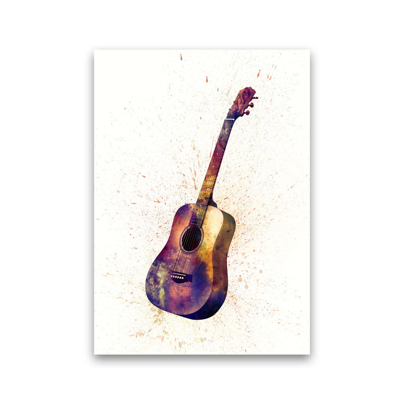 Acoustic Guitar Watercolour  by Michael Tompsett Print Only