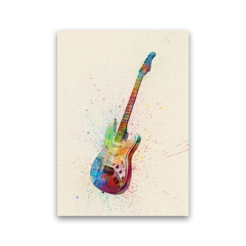 Electric Guitar Watercolour Multi-Colour  by Michael Tompsett Print Only