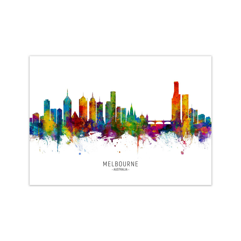 Melbourne Australia Skyline Art Print by Michael Tompsett Print Only