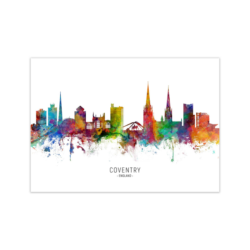 Coventry England Skyline Art Print by Michael Tompsett Print Only