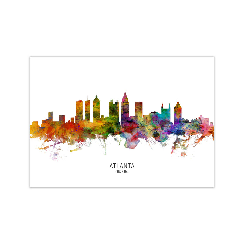 Atlanta Georgia Skyline Art Print by Michael Tompsett Print Only
