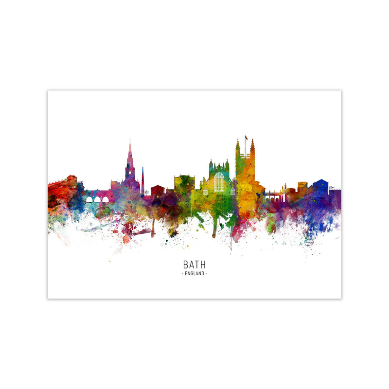 Bath England Skyline Art Print by Michael Tompsett Print Only