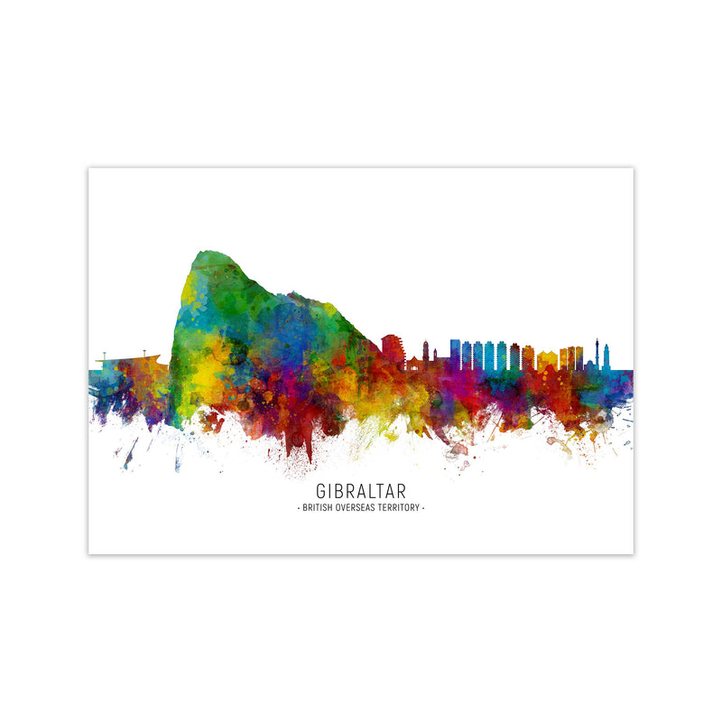 Gibraltar  Skyline Art Print by Michael Tompsett Print Only