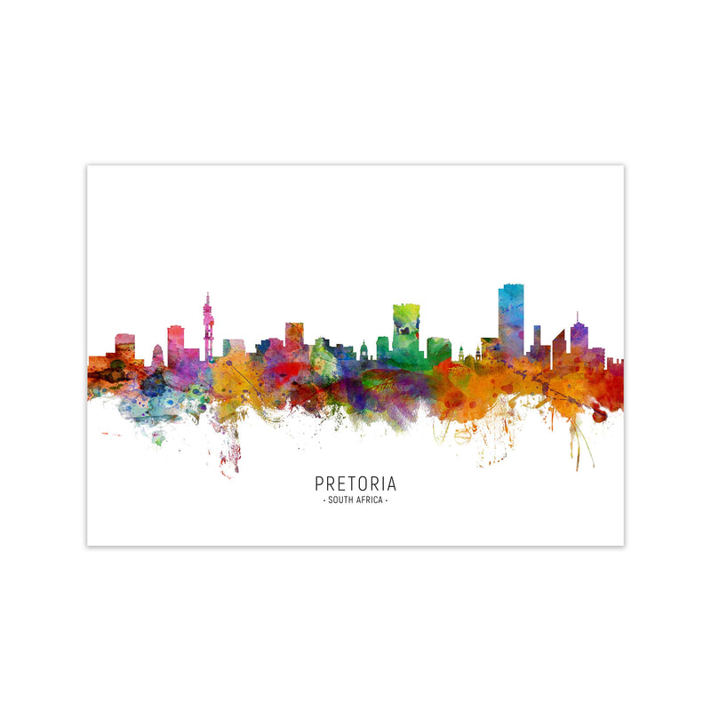 Pretoria South Africa Skyline Art Print by Michael Tompsett Print Only
