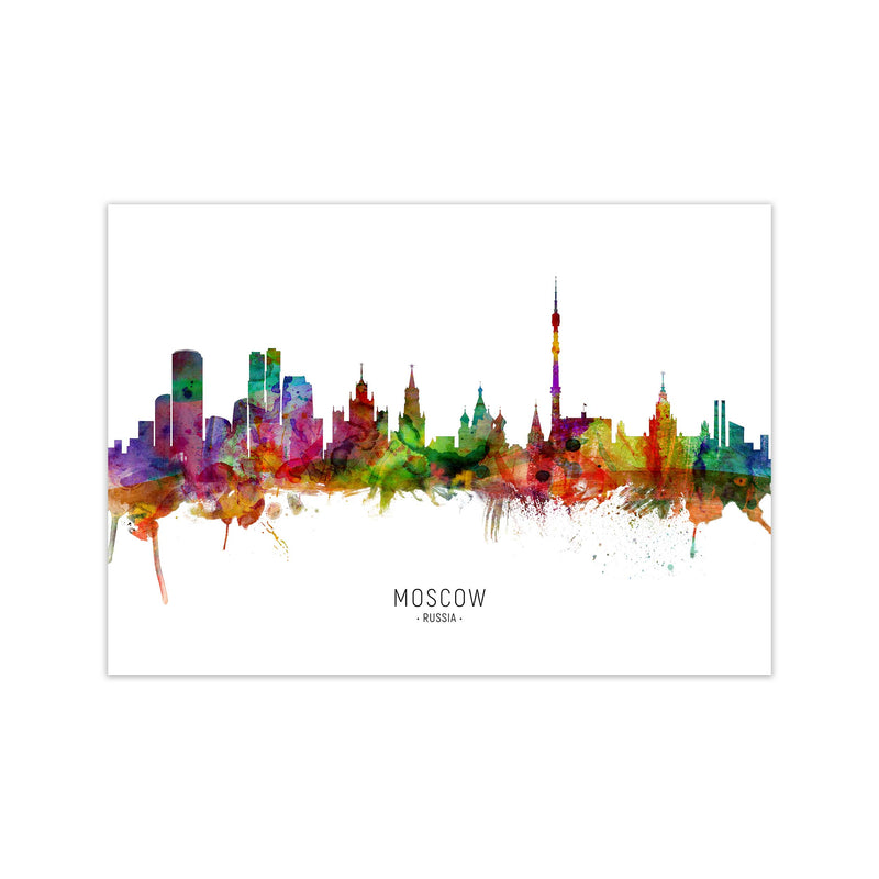 Moscow Russia Skyline Art Print by Michael Tompsett Print Only