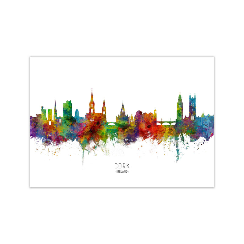 Cork Ireland Skyline Art Print by Michael Tompsett Print Only