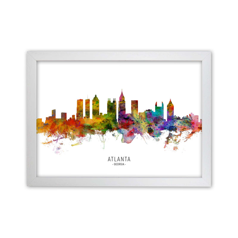 Atlanta Georgia Skyline Art Print by Michael Tompsett White Grain