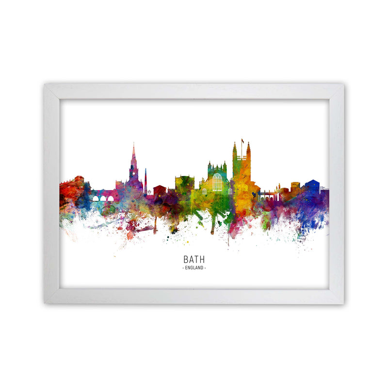 Bath England Skyline Art Print by Michael Tompsett White Grain