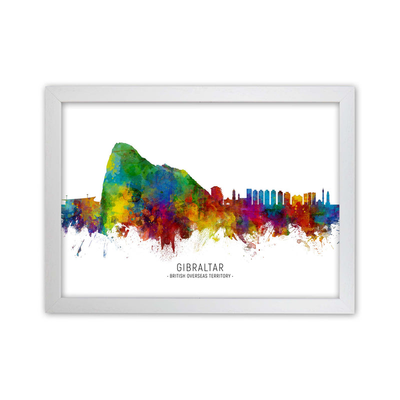 Gibraltar  Skyline Art Print by Michael Tompsett White Grain