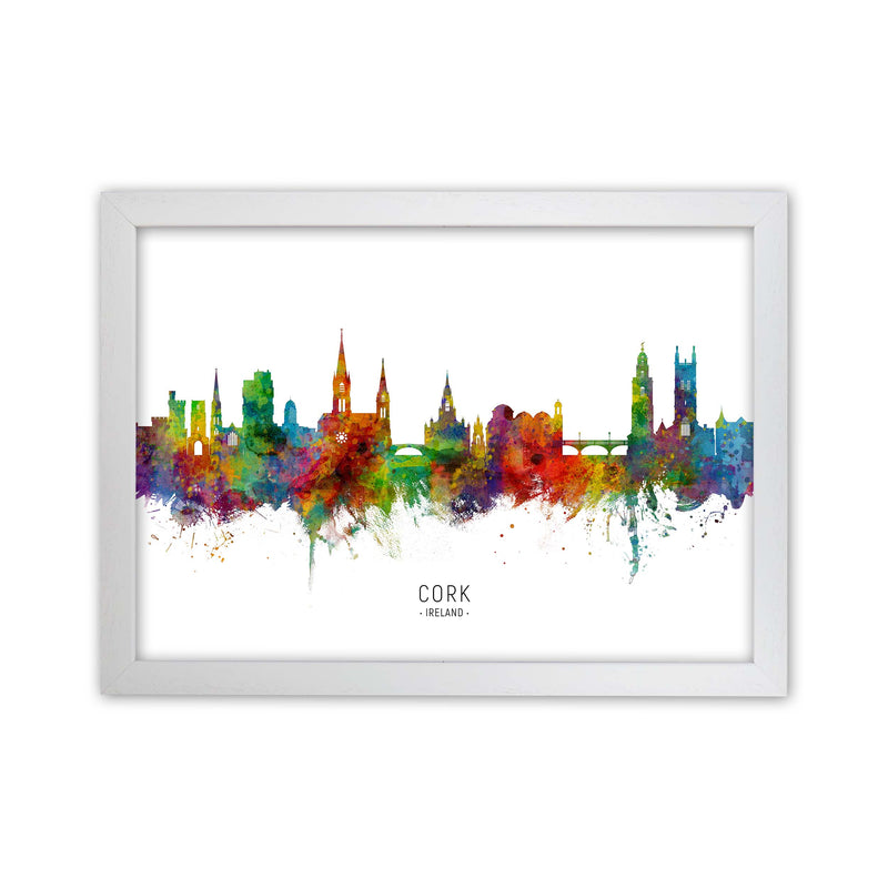 Cork Ireland Skyline Art Print by Michael Tompsett White Grain