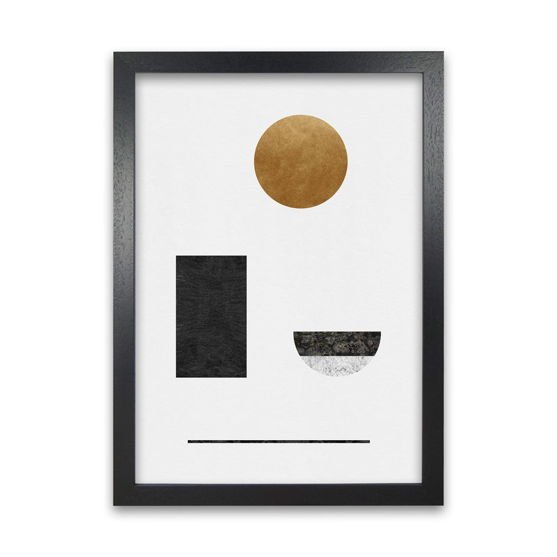Abstract Geometric I by Orara A1 Black Frame