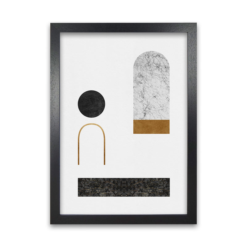 Abstract Geometric II by Orara A1 Black Frame