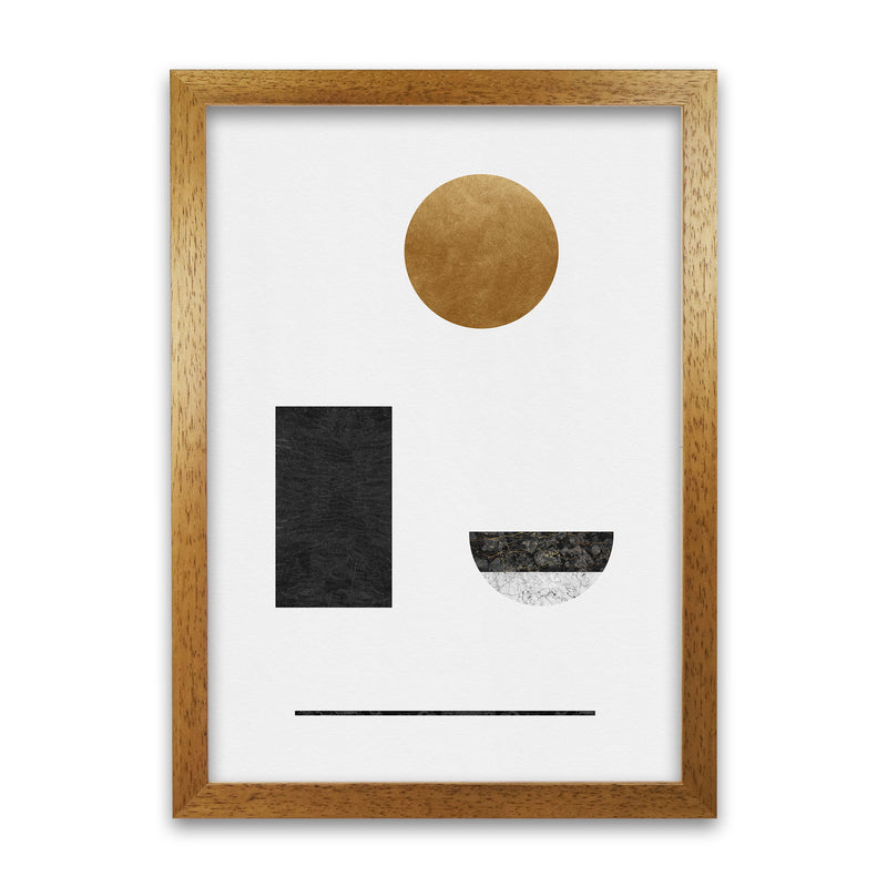 Abstract Geometric I by Orara A1 Oak Frame
