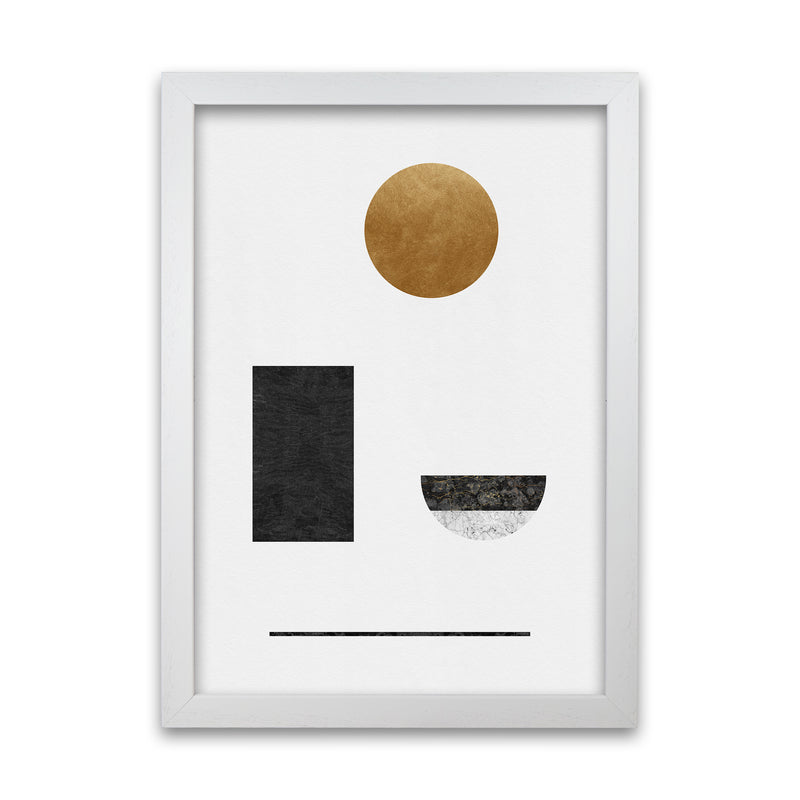 Abstract Geometric I by Orara A1 White Frame