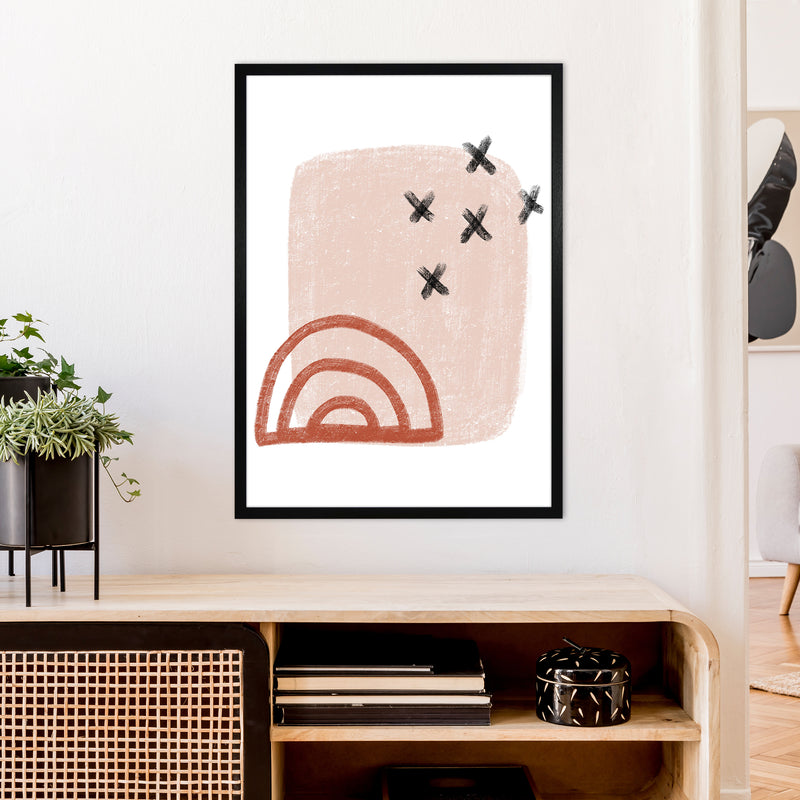 Dalia Chalk Red Rainbow  Art Print by Pixy Paper A1 White Frame