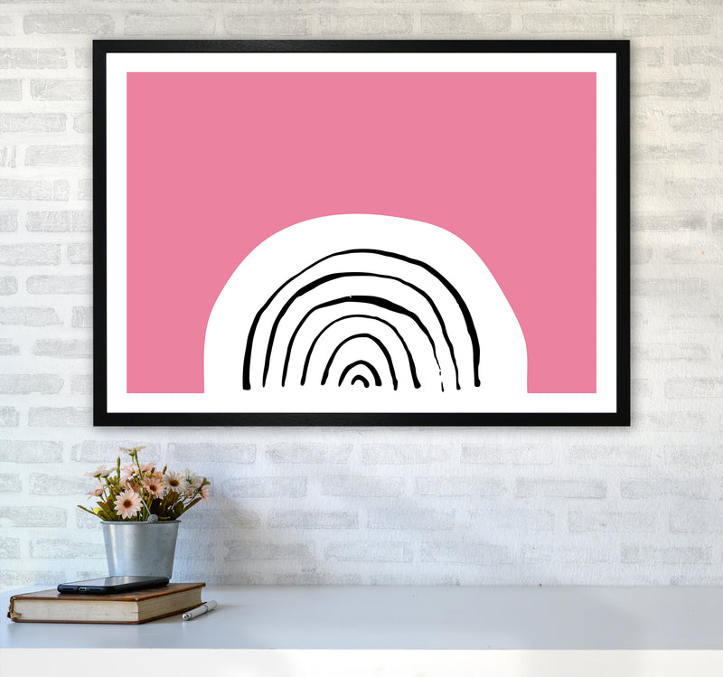Pink Rainbow Neon Funk  Art Print by Pixy Paper A1 White Frame
