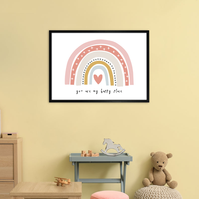 You Are My Happy Place Rainbow  Art Print by Pixy Paper A1 White Frame
