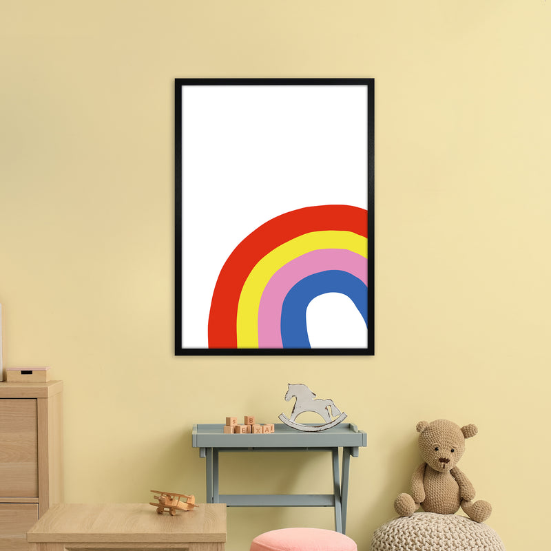 Rainbow In Corner  Art Print by Pixy Paper A1 White Frame