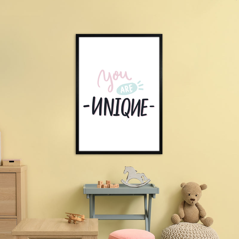 You Are Unique  Art Print by Pixy Paper A1 White Frame