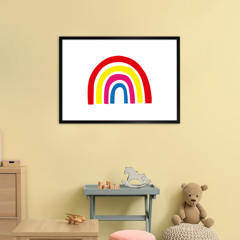Rainbow Red  Art Print by Pixy Paper A1 White Frame