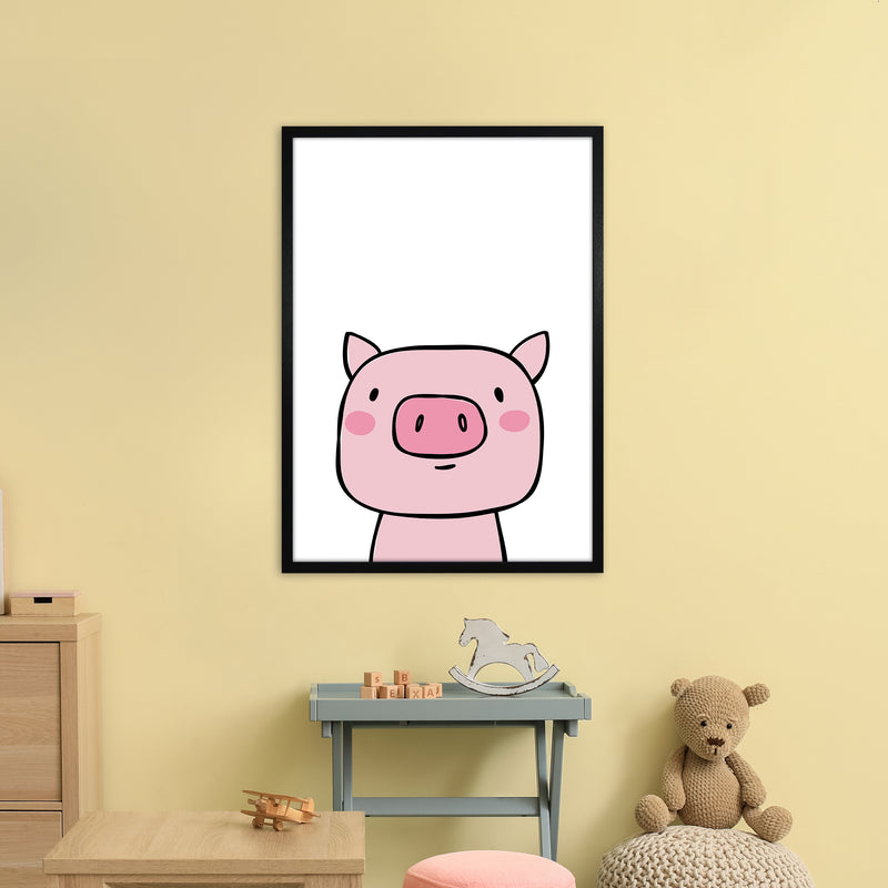Pig  Art Print by Pixy Paper A1 White Frame